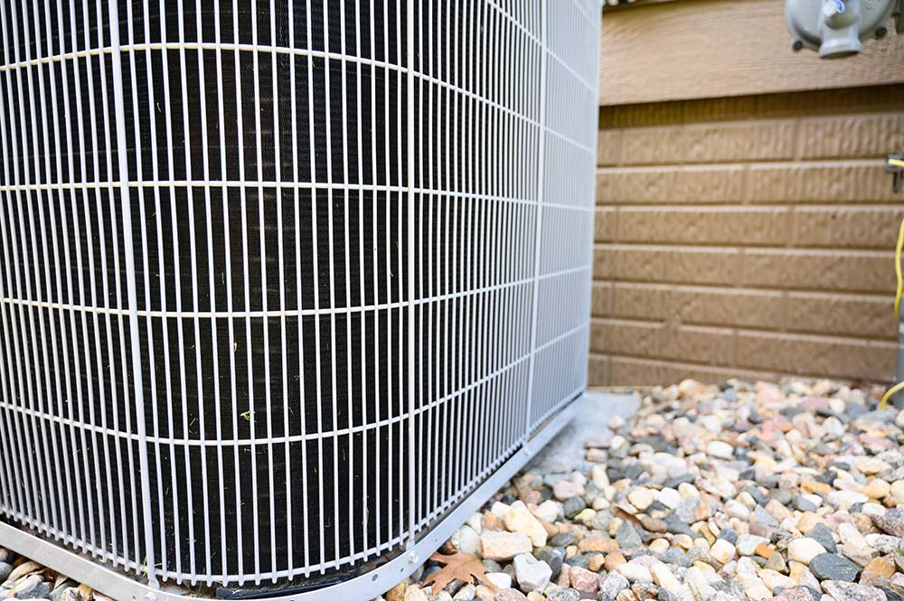close-up view of air conditioner